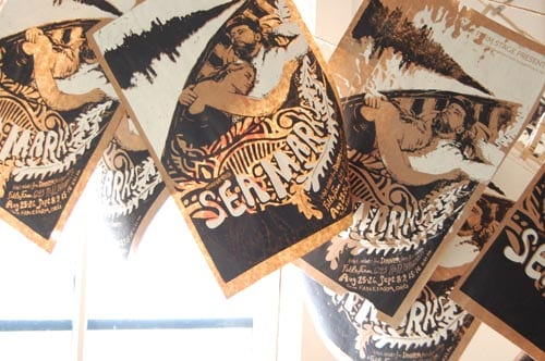 Sea Marks: a theater poster screen printed in-house