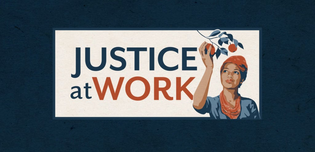 Justice At Work logo design
